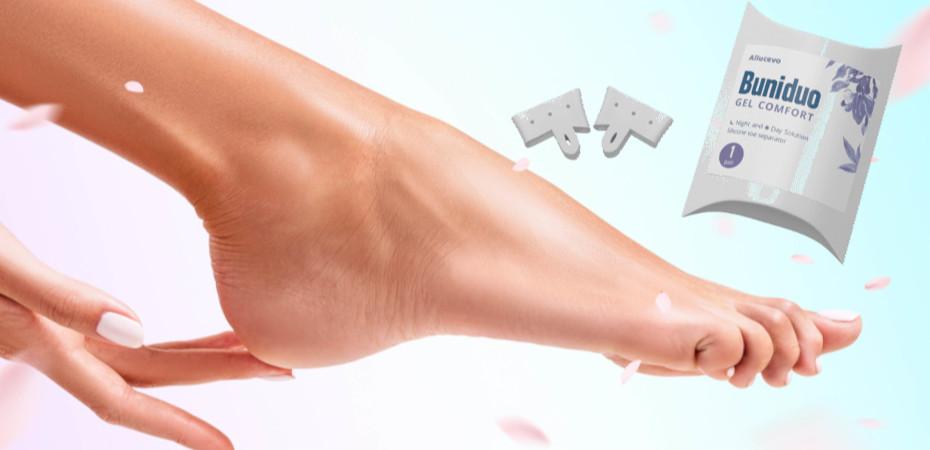 Buniduo gel comfort - na křivé špičce -  jak používat – akční – složení